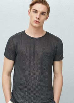Printed linen-blend t-shirt - Man Mango Sale, Printed Linen, Linen Fabric, Latest Trends, Casual, Cotton, Mens Tops, Shirts, Nepal