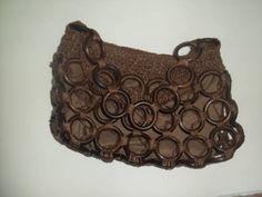 Bolsa de Crochê e argolas