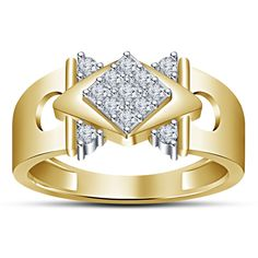 Ring looks amazing as a wedding band or just as an ICY pinkie ring! We have in rhodium finish (natural silver color) & yellow gold plated. Wedding Engagement, Diamond Engagement Rings, Wedding Rings, Mens Band Rings, Rings For Men, 925 Silver, Sterling Silver Rings, Diamond Mangalsutra, Diamond Jewelry