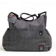 Bolso carrito bebé tweed gris