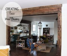 Totally Love It, Tuesday! 'Faux' beam from framing lumber. So cool!