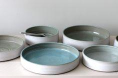 Salade bowls celadon Keramiek atelier Marjoke de Heer