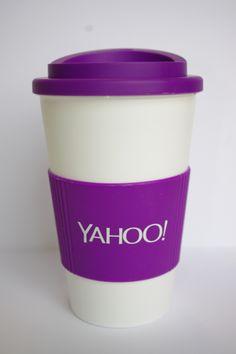 Yahoo Promotional Thermal Mug!  #tea #coffee #onthego #reusable www.nadel.uk.com  Find us on facebook at https://www.facebook.com/JNLondon