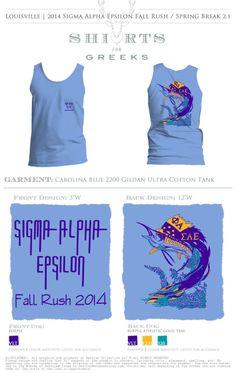 Sigma Alpha Epsilon | Fall Rush | shirtsforgreeks.com