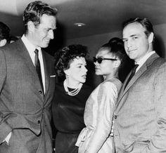 Icons galore. Charleton Heston, Judy Garland, Eartha Kitt and Marlon Brando. Wow!