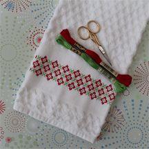 Cross Stitch Estate Towel, designed by @Cheryl Fall, from @http://dmc-usa.com DMCThreads.