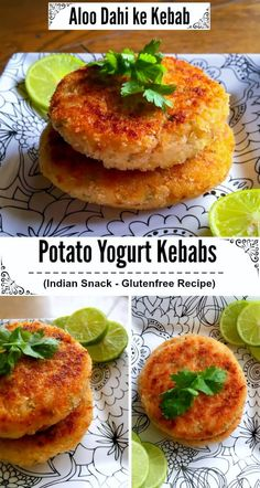 Indian Potato Yogurt Kebabs - Aloo Dahi ke Kebab : #dahi #kebab #glutenfree #snack