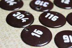 2 Vintage Brown Enamel Number Tokens by CaityAshBadashery on Etsy