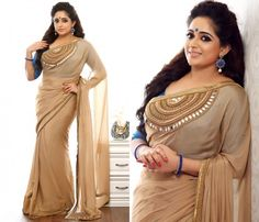 Looking for saree blouse designs to look slim ? Here are 10 designs/ideas that can you can incorporate on your blouse style for an lean saree look. Kerala Saree Blouse Designs, Saree Jacket Designs, Saree Blouse Patterns, Saree Jackets, Dress Indian Style, Indian Wear, Indian Beauty Saree, Indian Sarees, Stylish Blouse Design