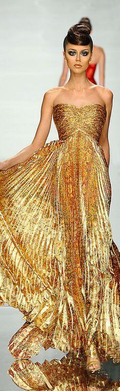 White and Gold Wedding. Gold Bridesmaid Dress. Elegant and Glamorous. Rami Al Ali