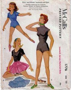 Just like Mrs Maisel wore! in my #etsy shop: 1950s McCall's 1776 Vintage Sewing Pattern Misses Leotard and Dance Skirt, Dance Costume Size 12 Bust 30 http://etsy.me/2orkLaM #supplies #sewing #missesleotard #missesdanceskirt #missesdancecostume #50sleotardpattern
