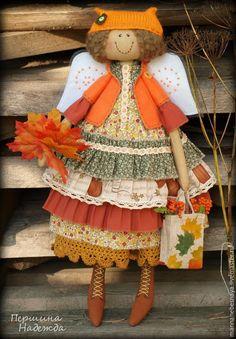 Купить Рыжая осень. Фея осенних листочков. Ароматизированная кукла. - рыжий, рыжая осень