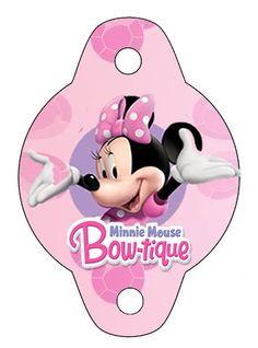 Kit de Minnie Boutique para Imprimir Gratis. Minnie Bow, Mickey Mouse, Minnie Mouse Party, 4th Birthday Parties, 3rd Birthday, Minnie Boutique, Comic Party, Cumple Paw Patrol, Beatles Party