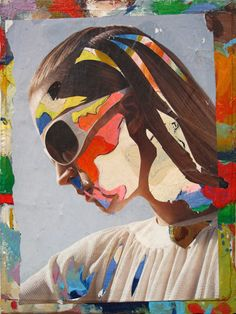 """Fendi Girl  Fendi Girl is an Original Mixed Media Collage Fine Art Painting on canvas created in 2007. This piece is from my 'Identity Series' and the print of it was exhibited at my solo show,""""Beyond Liberetta"""", at the SB Digital Gallery, NYC, in 2008."""