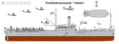 Perfiles navales Portahidroaviones Dedalo 1922