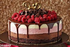 Pumpkin shmumpkin. You have months left to enjoy pumpkin desserts! Let's forgo the gourd for a minute, change it up a little, and say goodbye to the last of the berries with this stunning Chocolate Raspberry Mousse Cake.