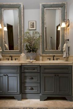 Beautiful Farmhouse Master Bathroom Remodel Ideas (17)