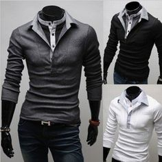 d1dfc41e Polo Masculina, Mens Polo T Shirts, Fashion 101, Cute Fashion, Fashion  Outfits