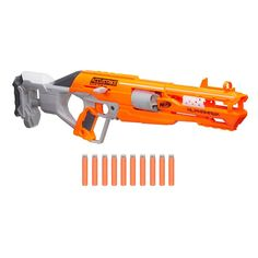 The Nerf N-Strike AlphaHawk is part of the AccuStrike Series, which features darts designed for greater accuracy. Hit the mark with the precision of the most accurate Nerf darts. Take aim and strike like a hawk! Nerf Gun, Arma Nerf, Pistola Nerf, Nerf Darts, Nerf Toys, Kids Store, Action Figures, Ebay, Design