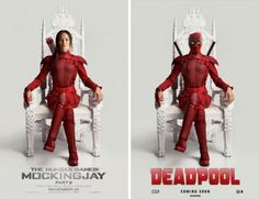 The upcoming R-rated comic-book movie 'Deadpool' is winning at the Internet these days. See all of the 'Deadpool' memes and pics your heart desires. Deadpool Costume, Deadpool Funny, Funny Marvel Memes, Deadpool Movie, The Hunger Games, Hunger Games Humor, Hunger Games Trilogy, Marvel Films, Marvel Dc