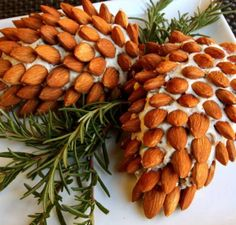 I totally love this pinecone cheeseball! Perfect for an office Christmas party!