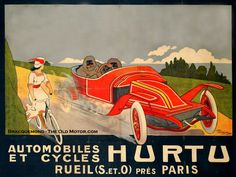 French Automotive Poster Art | The Old Motor