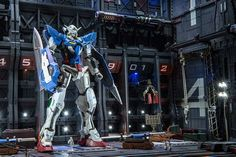 MG 1/100 Gundam Exia with Florecent Sticker/ Paint Custom Build with MS Hangar Diorama  by zteng   Sweet and awesome detailing! I like the l...