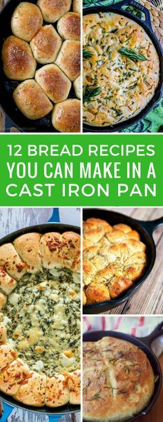 Best Cast Iron Skillet Bread Recipes ( will make you drool! Best Cast Iron Skillet Bread Recipes ( will make you drool!) Who knew making cast Best Cast Iron Skillet, Cast Iron Skillet Cooking, Skillet Bread, Iron Skillet Recipes, Cast Iron Recipes, Skillet Meals, Skillet Pan, Pan Bread, Cast Iron Bread