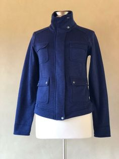 PRE-OWNED Ladies Firetrap Black /& Blue Reversible Gillet Jacket Size Small