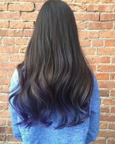 Long+Dark+Brown+Hair+With+Purple+Ends