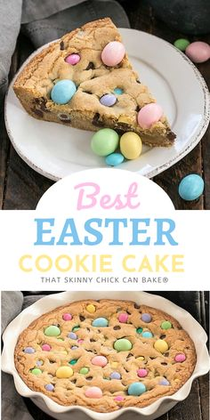This Easter Cookie Cake is packed full of Easter candy and chocolate chips! It's perfect for any Easter leftovers! Or make it for a fun addition to your Easter menu!!!