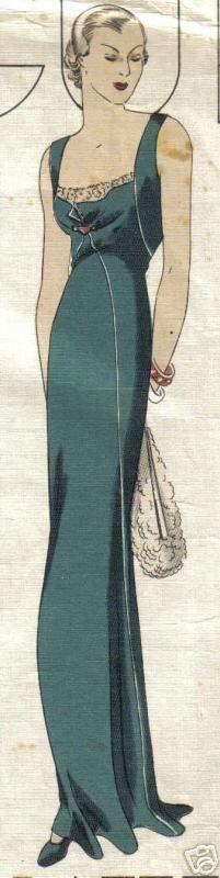 Vogue Couturier 314 | 1930s Evening Dress