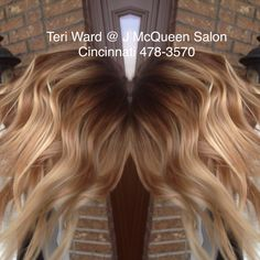 Rooted blonde hand painted hi lights by Teri Ward @ J McQueen Salon 478-3570