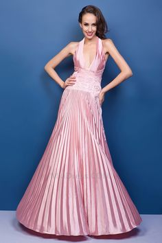 Chic & Modern Pleated Bodice Hourglass Spring Evening Dress