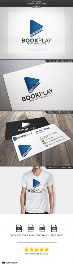 Book Play Logo by Seceme Shop on Creative Market                                                                                                                                                                                 More