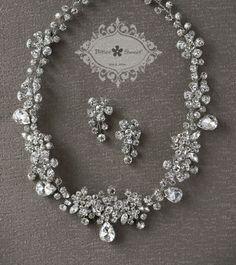 Bitter Sweet Bridal Collection. Necklace set. #bridal #jewellery #wedding #elegant #floral #vintage #crystal