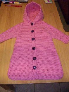 Crochet Stitches With Holes : SACO DE DORMIR DE CROCHe PARA O BEBe, CASULO (CROCHET BABY COCOON )