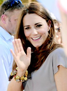 Catherine, Duchess of Cambridge...So very happy!  Love her interaction with others!