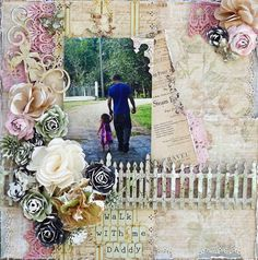 ***Leaky Shed*** Walk WIth Me Daddy - Scrapbook.com Love the fence!