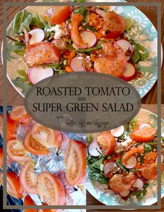 Grilled Tomato & Power Greens Salad - Busy Being Jennifer