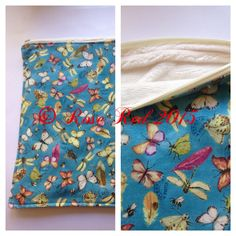 Handmade, plush fabric lined and cotton tablet cover.