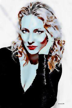 Original Celebrity Painting by Acqua Luna Cate Blanchett, Saatchi Art, Original Paintings, Halloween Face Makeup, Princess Zelda, Turquoise, The Originals, Canvas, Fictional Characters
