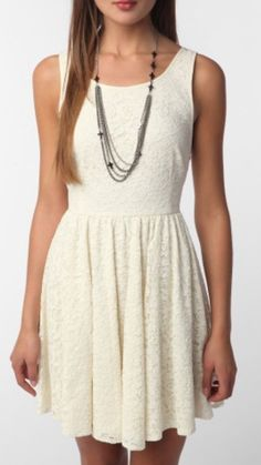 Pins and Needles Women's Dress Beige Backless Sleeveless Lace Size 8 | eBay
