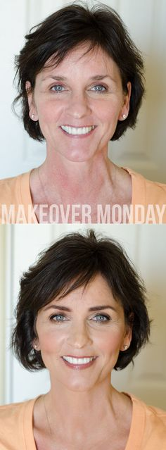 A beauty blogger who understands that less is more on a mature face!  So lovely! | Makeover Monday via Maskcara