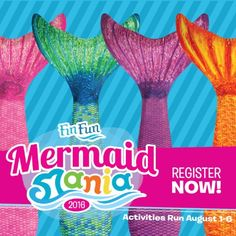 Mermaid Mania 2016. Register by Aug. 1, 2016  to be eligible to win our grand prize- a mermaid party for you and 5 of your friends!