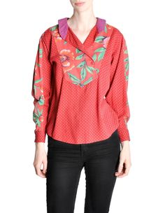 Kenzo Vintage Floral Print Long Sleeve Top - from Amarcord Vintage Fashion