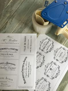 Maison Decor: French Labels: an easy DIY transfer method