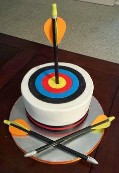 J's Cakes: Archery Target and Arrows Birthday Cake