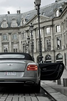 Newer Bentley GTC... one of the ultimate open air automobiles... Expensive and fast.