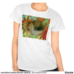 snowshoe sixties flower child kitty tee shirts